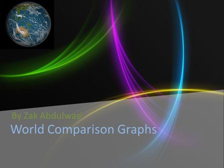 World Comparison Graphs By Zak Abdulwasi. Questions For Internet user graph 1.What country has the largest column? What are the reasons that you think.