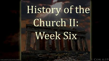 "History of the Church II: Week Six. Protestants head to the New World  Read p. 291  Puritans, a group of people who wanted to ""purify"" the church of."
