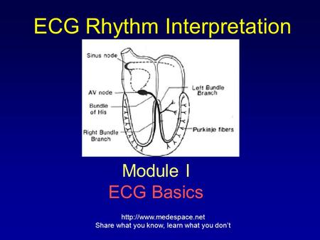 ECG Rhythm Interpretation Module I ECG Basics  Share what you know, learn what you don't.