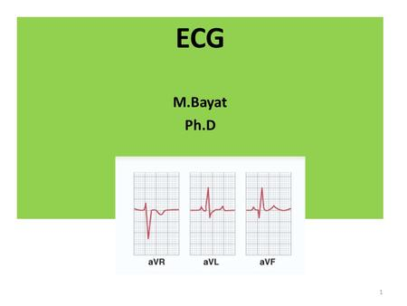 ECG M.Bayat Ph.D 1. Galvanometer Willem Einthoven (1860–1927), known as the creator of the electrocardiograph, won a Nobel Prize in 1924 for his contributions.