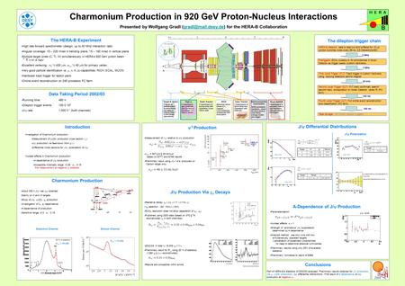 Charmonium Production in 920 GeV Proton-Nucleus Interactions Presented by Wolfgang Gradl for the HERA-B