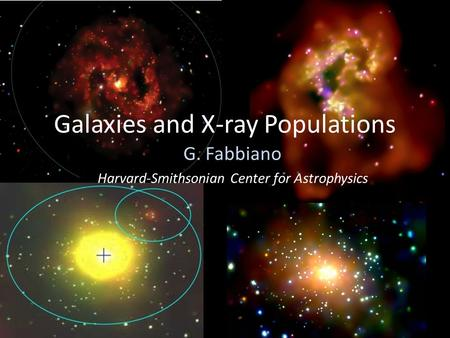 Galaxies and X-ray Populations G. Fabbiano Harvard-Smithsonian Center for Astrophysics.