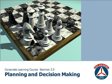 Corporate Learning Course Seminar 3.5 Planning and Decision Making.
