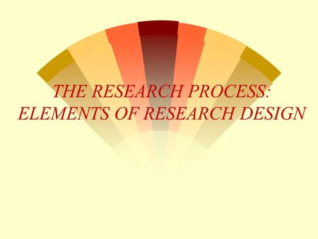 elements of research methodology Elements of a research proposal and report  it is one of the key elements that proposal readers look at when deciding whether or  research methodology.