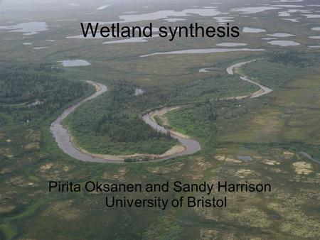 Wetland synthesis Pirita Oksanen and Sandy Harrison University of Bristol.