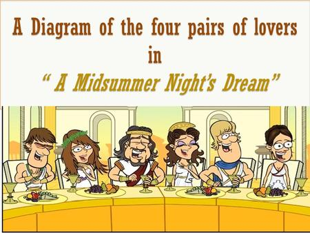 "A Diagram of the four pairs of lovers in "" A Midsummer Night's Dream"""
