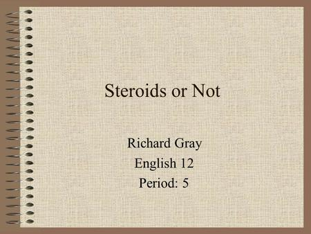 Richard Gray English 12 Period: 5