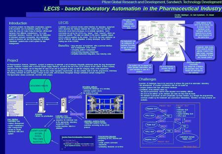 "LECIS - based Laboratory Automation in the Pharmaceutical Industry ""plug-and-play"" of equipment with a common interface that is independent of the vendor."
