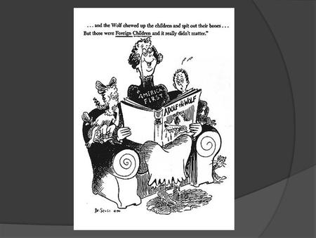 America First Dr. Seuss PM October 1, 1941.