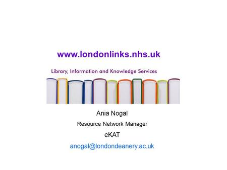 Ania Nogal Resource Network Manager eKAT