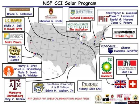 NSF CCI (Center for Chemical Innovation) Solar Program- Powering the Planet  Goal to develop efficient, inexpensive, sustainable.