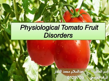 Physiological or abiotic disorders are distinguished from other disorders in that they are not caused by living organisms (viruses, bacteria, fungi insects.