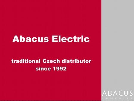 Abacus Electric traditional Czech distributor since 1992.