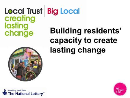 Building residents' capacity to create lasting change.