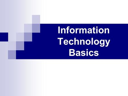 Information Technology Basics. Introduction to Information Technology 2 Is this really all that important to know ? Server Program Client Network CPU.