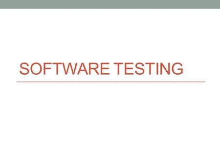 SOFTWARE TESTING. Introduction Software Testing is the process of executing a program or system with the intent of finding errors. It involves any activity.