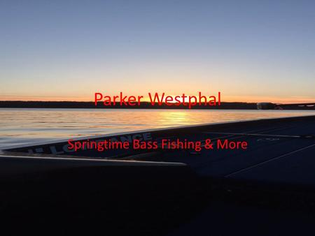 Parker Westphal Springtime Bass Fishing & More. How does dissolved oxygen affect bass habits If dissolved oxygen levels in water drop below 5.0 mg/L,