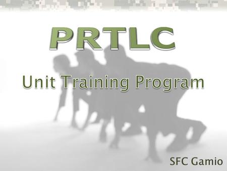 PRTLC Unit Training Program SFC Gamio.