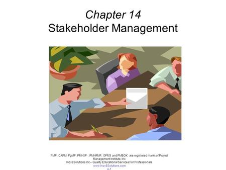 Chapter 14 Stakeholder Management