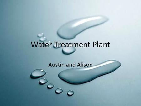 Water Treatment Plant Austin and Alison.
