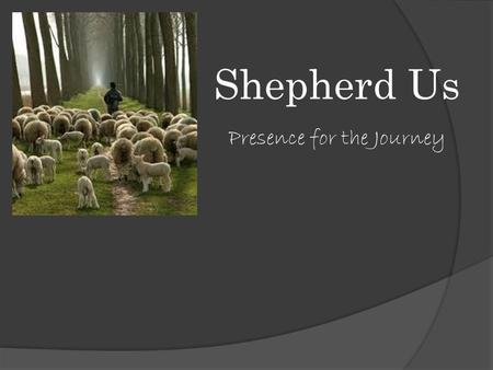 Shepherd Us Presence for the Journey. Genesis 48:15 Then he [Jacob] blessed Joseph and said, May the God before whom my fathers Abraham and Isaac walked.