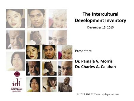 The Intercultural Development Inventory