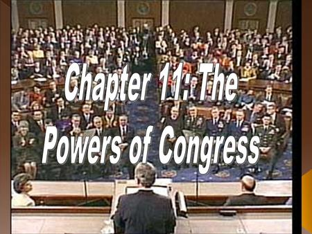  Congress gets all of its power from Article I of the U.S. Constitution.