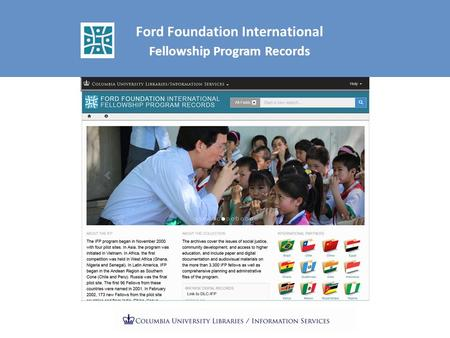 Ford Foundation International Fellowship Program Records.