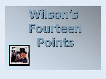 Wilson's Fourteen Points. The war ended on November 11, 1918, with an armistice. The kaiser, or emperor, had been overthrown and the new German government.