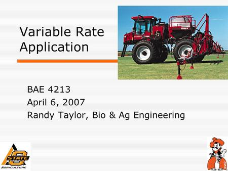 Variable Rate Application