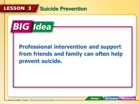 Professional intervention and support from friends and family can often help prevent suicide.