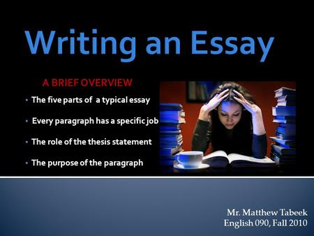 what is the formula for a standard thesis statement