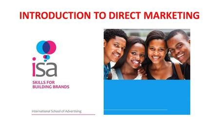 INTRODUCTION TO DIRECT MARKETING. SOME MARKETING JARGON.