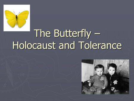 The Butterfly – Holocaust and Tolerance. The Holocaust Between 1939-1945 in Europe, Nazi Germany carried out a plan to eliminate people that they.