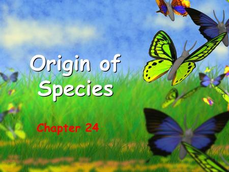 1 Origin of Species Chapter 24. 2 What you need to know! The difference between microevolution and macroevolution. The biological concept of species.