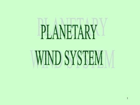 PLANETARY WIND SYSTEM.