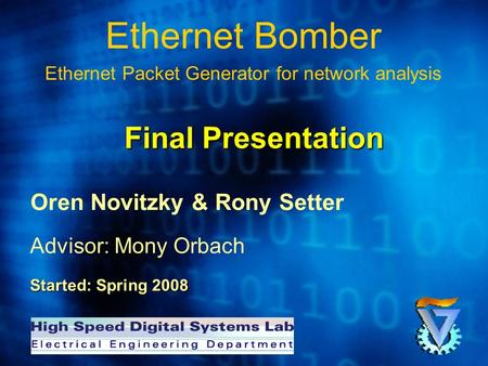 Ethernet Bomber Ethernet Packet Generator for network analysis