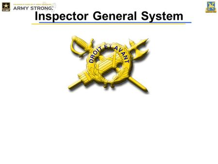 Inspector General System. Determine the state of the command's economy, efficiency, discipline, morale, mission performance, training and readiness as.