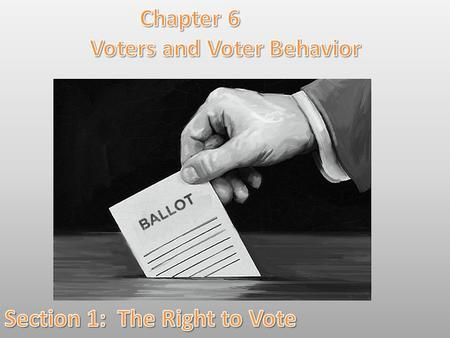 Lesson Objectives: By the end of this lesson you will be able to: 1.Summarize the history of voting rights in the United States. 2.Identify and explain.