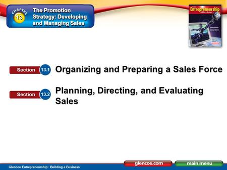 Section Objectives Explain the role of personal selling in businesses.