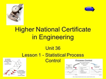 Higher National Certificate in Engineering Unit 36 Lesson 1 - Statistical Process Control.