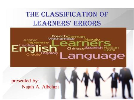 the classification of learners' errors