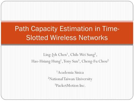 Path Capacity Estimation in Time-Slotted Wireless Networks