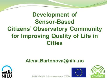 Citizens' Observatory Community