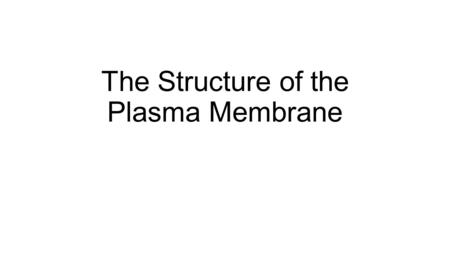 The Structure of the Plasma Membrane. Membrane Structure The plasma membrane is 8 nm thick. It is mainly made up of phospholipids and proteins.
