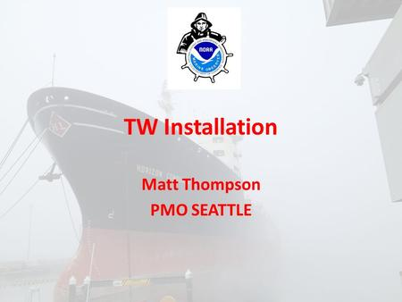 TW Installation Matt Thompson PMO SEATTLE. Background will be this wave picture.