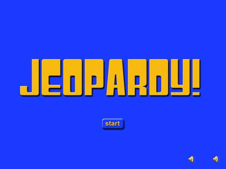Jeopardy Opening Sound: First Round Category 1 Intro Category 1 Biology Basics Category 1 Biology Basics.