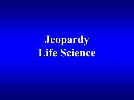 Jeopardy Life Science Tips for Designing the Game Here's how the game works: a player (or MC) selects a question by clicking on one of the numbered boxes.