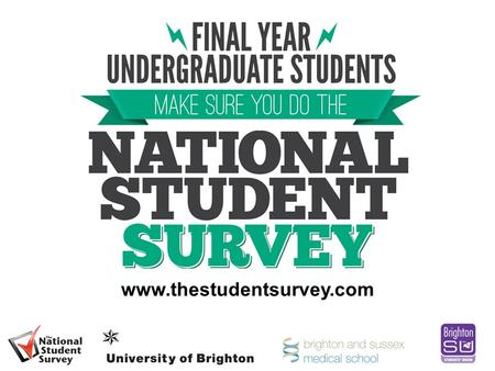 Www.thestudentsurvey.com. What is the National Student Survey (NSS)? Annual survey of final year undergraduates across the UK Commissioned by the Higher.