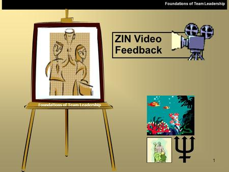 Foundations of Team Leadership 1 ZIN Video Feedback.